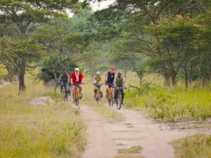 Mit dem Trekking Bike kannst Du im Lake Mburo Nationalpark auf Bike Safari gehen