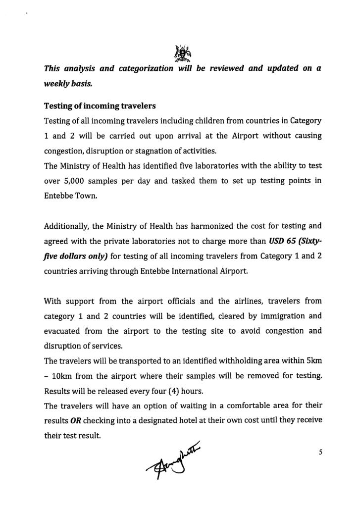 Uganda-covid-19-update des Ministry of Health Uganda Seite 5
