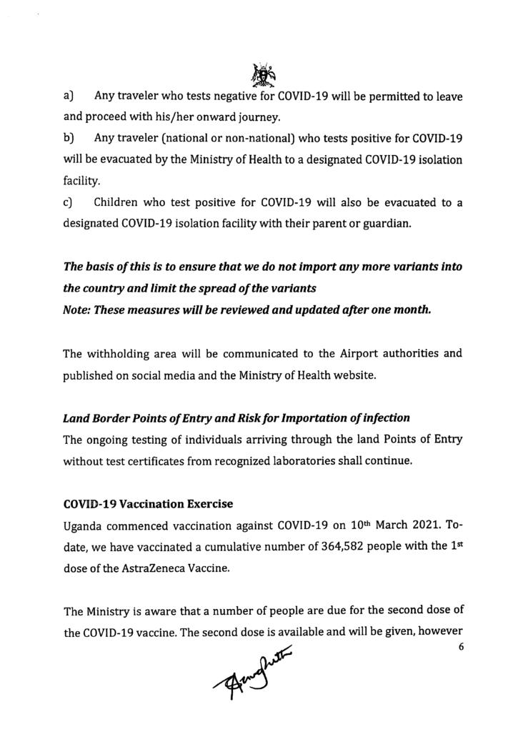 Uganda-covid-19-update des Ministry of Health Uganda Seite 6